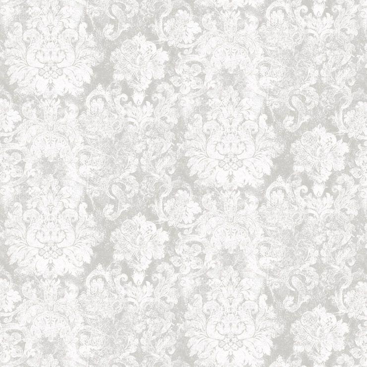 Papel de parede Coleção Diplomata arabesco cinza, bege
