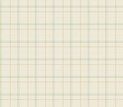 Papel de Parede Infantil Kan Tai TNT Coleção Baby Charmed Xadrez Bege, Creme, Azul, Verde