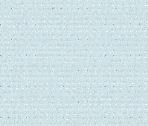 Papel de Parede Infantil Kan Tai TNT Coleção Baby Charmed Frases Inglês Azul, Dourado, Branco