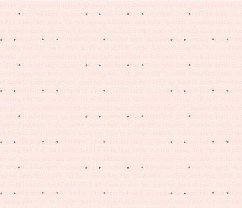 Papel de Parede Infantil Kan Tai  TNT Coleção Baby Charmed Frases Inglês Rosê, Dourado