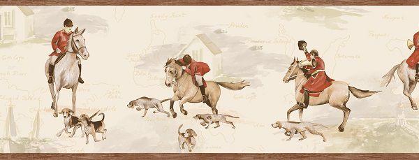 Faixa infantil Kan Tai TNT Coleção Baby Charmed Cavalos Creme, Bege, marrom, Vermelho