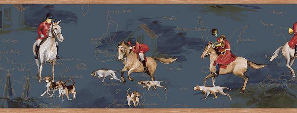 Faixa infantil Kan Tai  TNT Coleção Baby Charmed Cavalos Azul, Branco, Vermelho