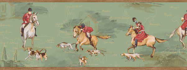 Faixa infantil Kan Tai  TNT Coleção Baby Charmed Cavalos Verde, Branco, Vermelho, Marrom