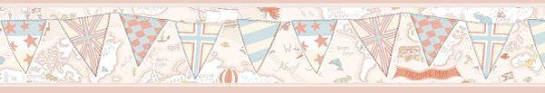 Faixa infantil Kan Tai  TNT Coleção Baby Charmed Mapa Mundi Creme, Rosa, Bege