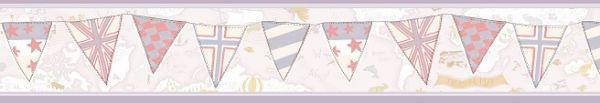 Faixa infantil Kan Tai  TNT Coleção Baby Charmed Mapa Mundi Creme, Lilás, Cinza