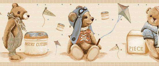 Faixa infantil Kan Tai  TNT Coleção Baby Charmed Ursos Bege, Azul, Vermelho