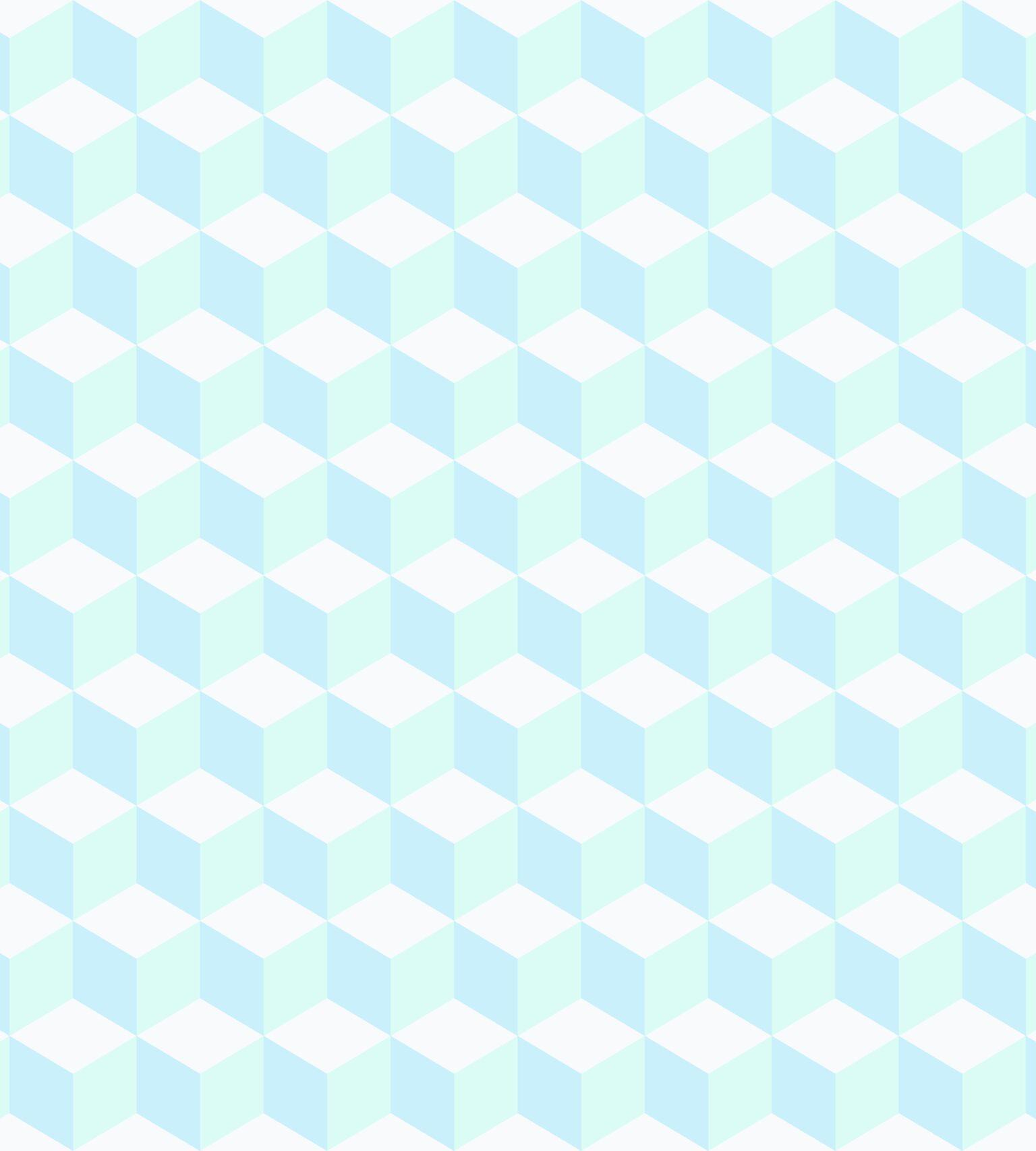 Papel de Parede Infantil Bobinex Coleção Brincar Geométrico Azul, Verde, Branco