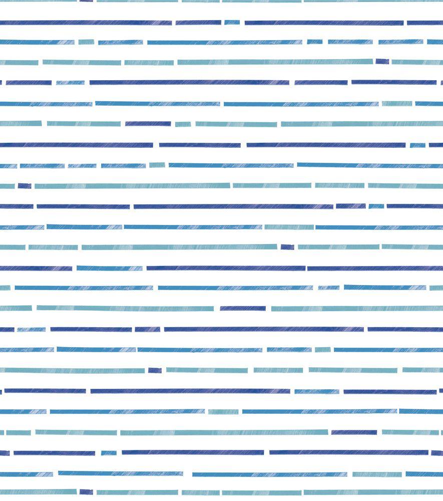 Papel de Parede Infantil Bobinex Vinílico Coleção Brincar Listras Branco, Azul, Verde