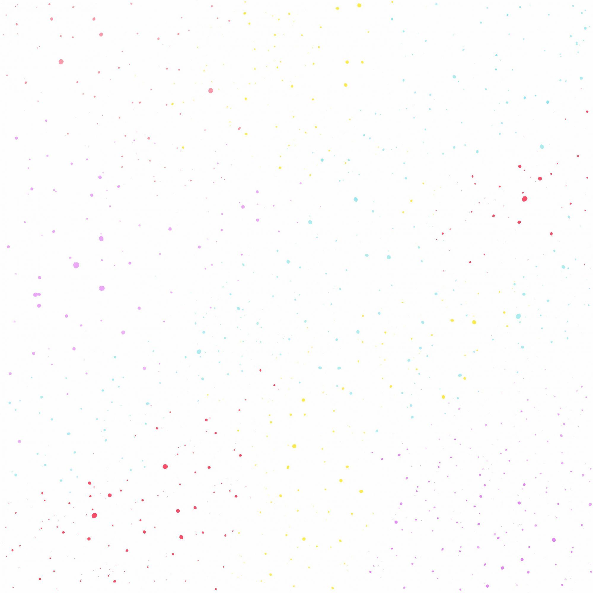 Papel de Parede Infantil Bobinex Coleção Brincar Poá Amarelo, Lilás, Azul