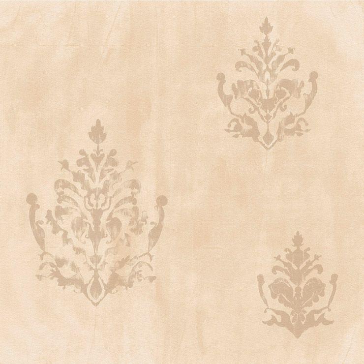 Papel de parede Coleção Natural cimento queimado arabesco  bege