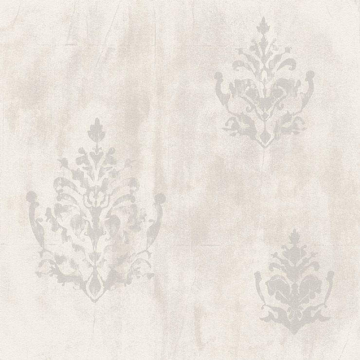 Papel de parede Coleção Natural cimento queimado arabesco  cinza claro