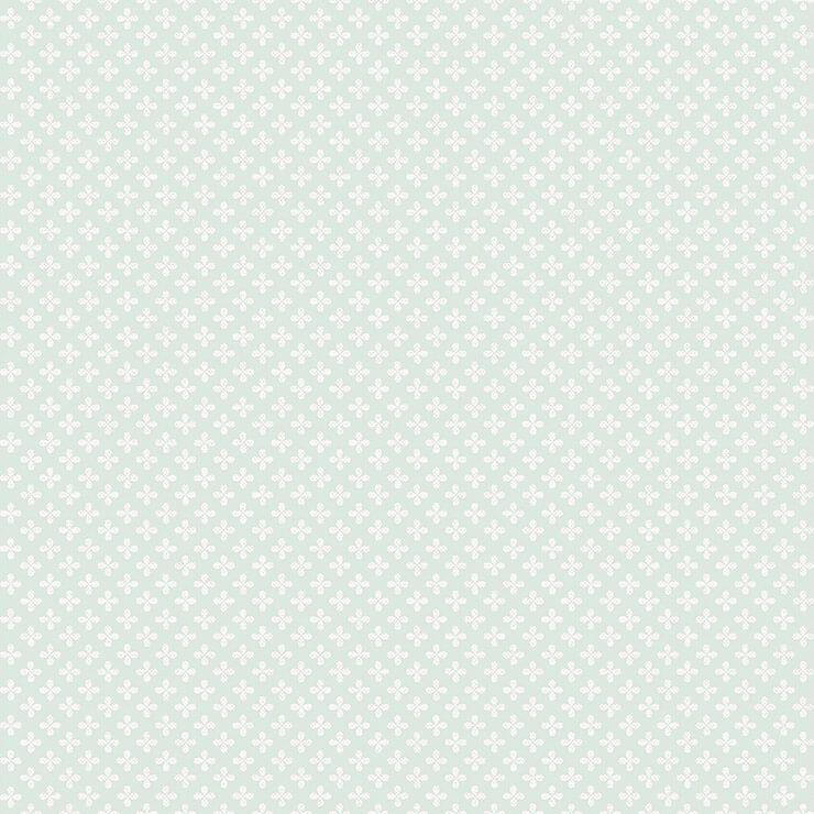 Papel de parede Infantil Bobinex Coleção Renascer Clover Verde, Branco