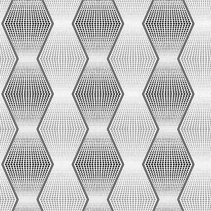 Papel de Parede Vinílico Coleção Bolero Geométrico Branco, Prata, Preto