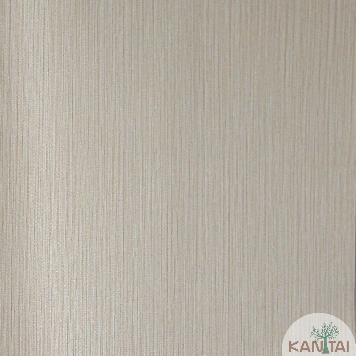 Papel de Parede Importado Kan Tai TNT Coleção Grace Textura Riscas Verticais Bege Médio