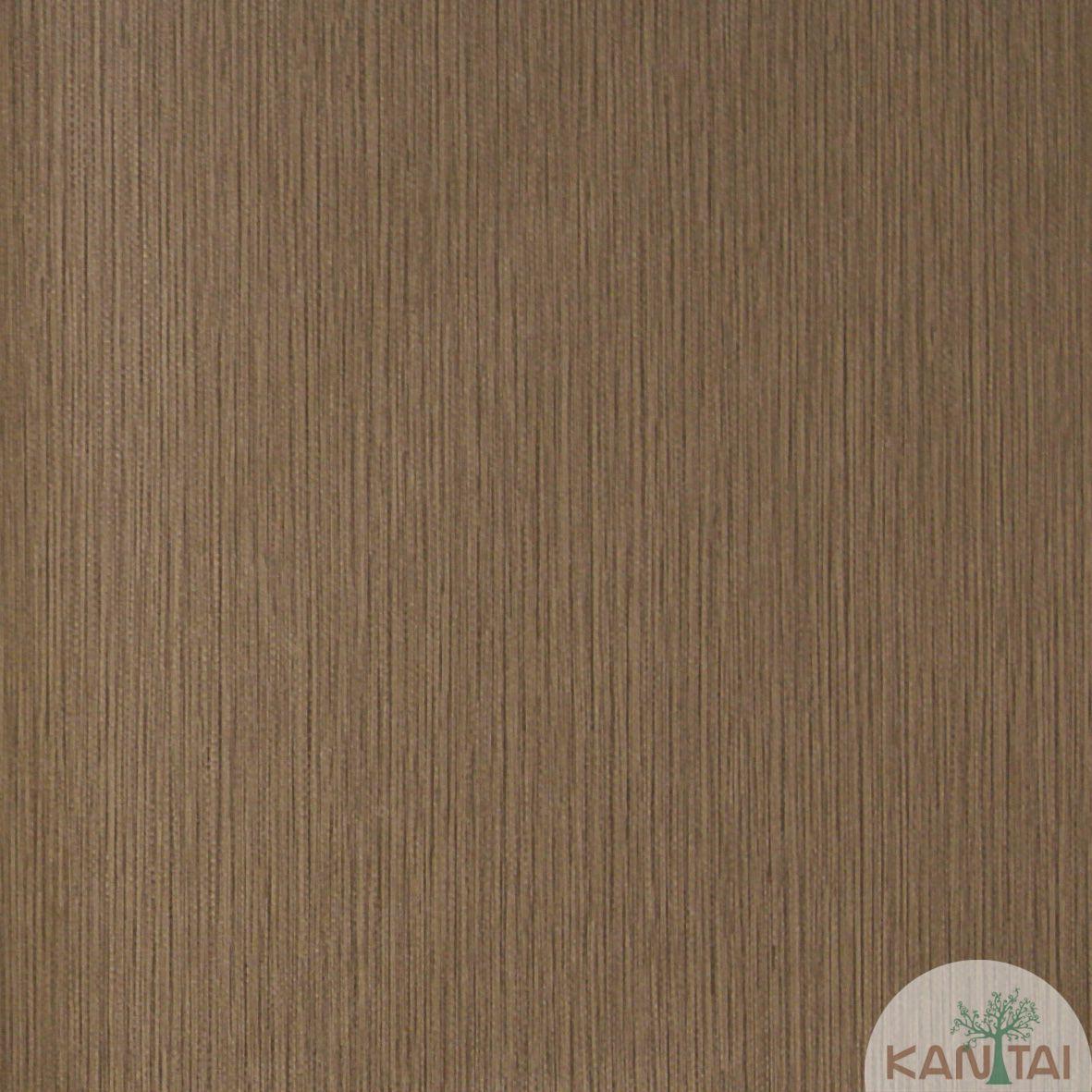 Papel de Parede Importado  Kan Tai  TNT Coleção Grace Textura Riscas Verticais Marrom