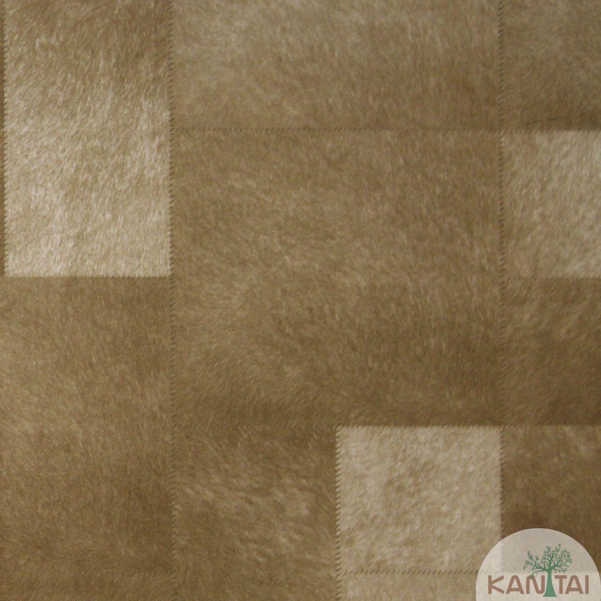 Papel de Parede Importado Kan Tai  Vinílico Coleção Grace Geométrico Animal print Tons Marrom