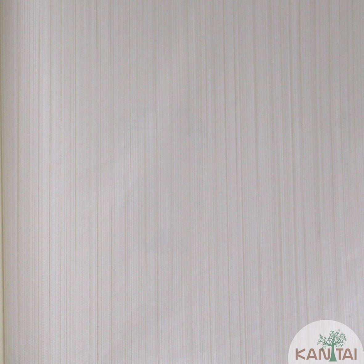 Papel de Parede Importado  Kan Tai Vinílico Coleção Grace Textura Listras finas Bege claro