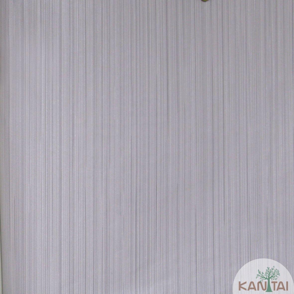 Papel de Parede Importado  Kan Tai Vinílico Coleção Grace Textura Listras Finas Tons Cinza
