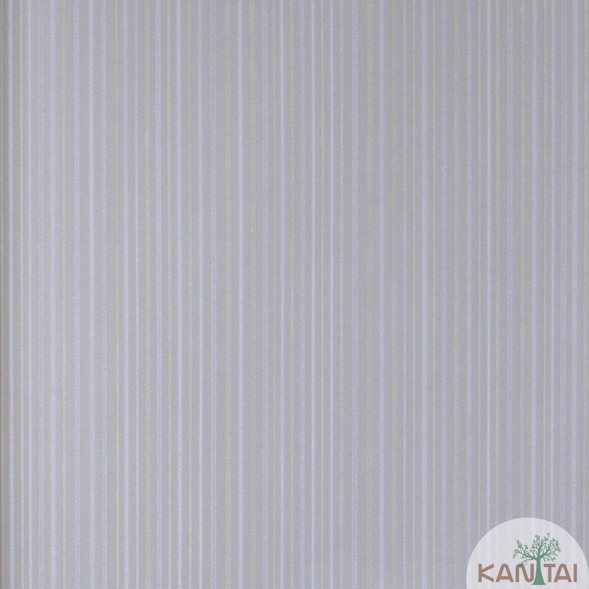 Papel de Parede Importado  Kan Tai TNT Coleção Grace Textura Listras Finas Bege claro, Cinza, Branco