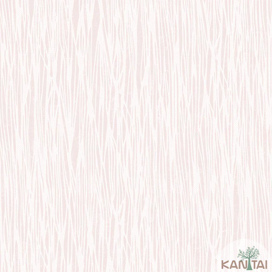 Papel de Parede Kan Tai TNT Coleção Veneza Textura Riscas Verticais Rosê, Creme, Alto relevo, Detalhes