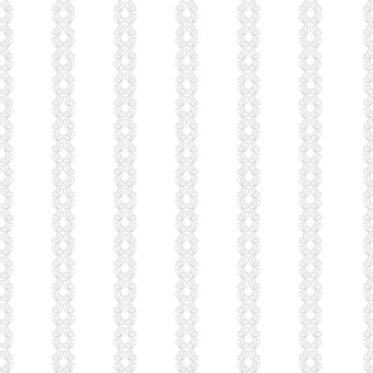 Papel de parede Infantil Bobinex Coleção Renascer Listras Borboletas Prata, Cinza
