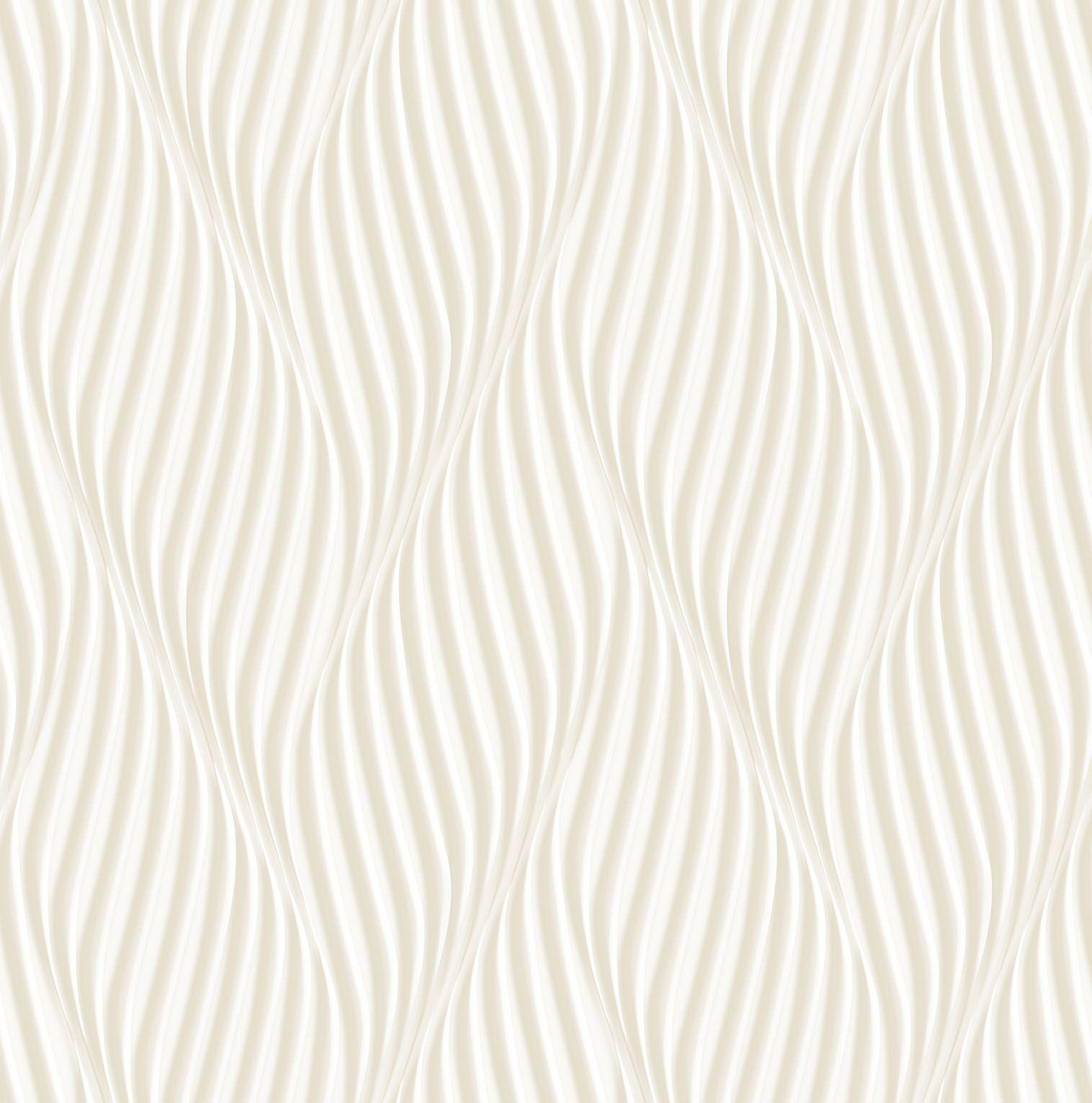 Papel de parede Bobinex  Vinílico Coleção Dimensões Geométrico Espiral Bege, Marfim