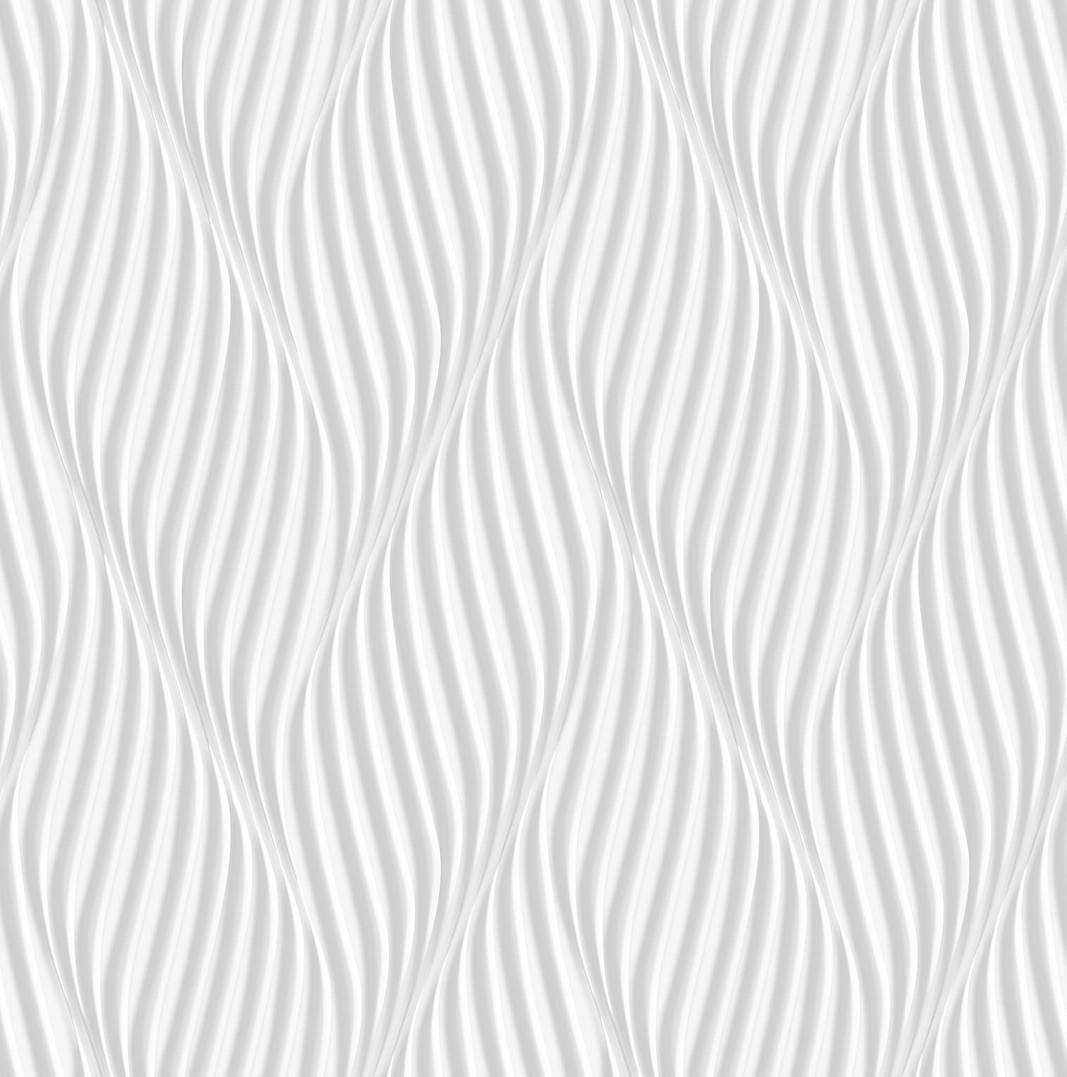 Papel de parede Bobinex Vinílico  Coleção Dimensões Geométrico Espiral Cinza claro, Marfim