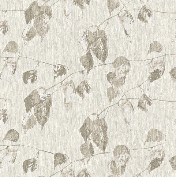 Papel de Parede Finottato Non Woven Coleção Bossa Nova Texturizado Folhagem Aquarelado Creme, Marrom
