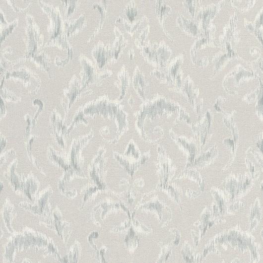 Papel de Parede Finottato Non Woven Coleção Grace Textura Tecido Arabesco Cinza, Azul