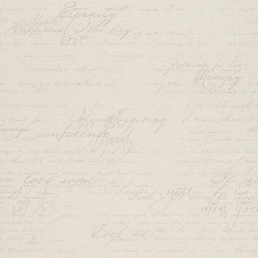 Papel de Parede Finottato Non Woven Coleção Grace Textura Tecido Frases Crème