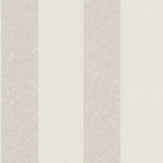 Papel de Parede Finottato Non Woven Coleção Grace Textura Tecido Listrado Branco, Cinza