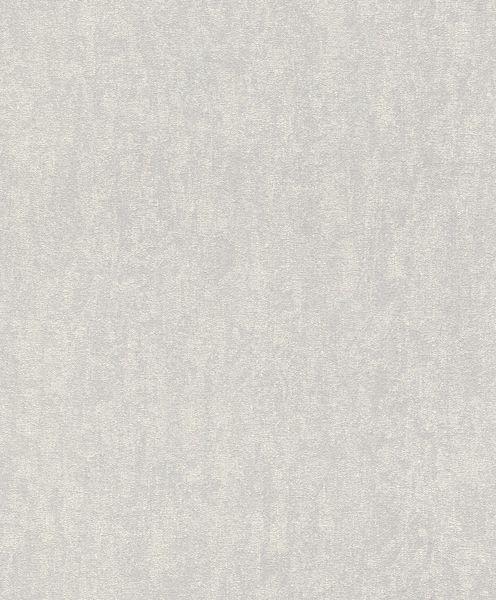 Papel de Parede Finottato Non Woven Coleção Jasmine Textura Cinza Médio, Detalhes Creme
