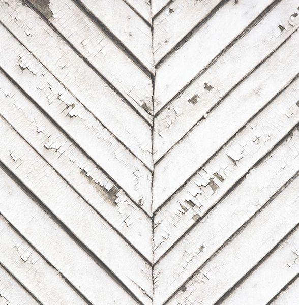 Papel de Parede Finottato Non Woven Coleção Temper Chevron Envelhecido Branco, Marrom