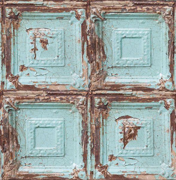 Papel de Parede Finottato Non Woven Coleção Temper Parede Envelhecida Azul