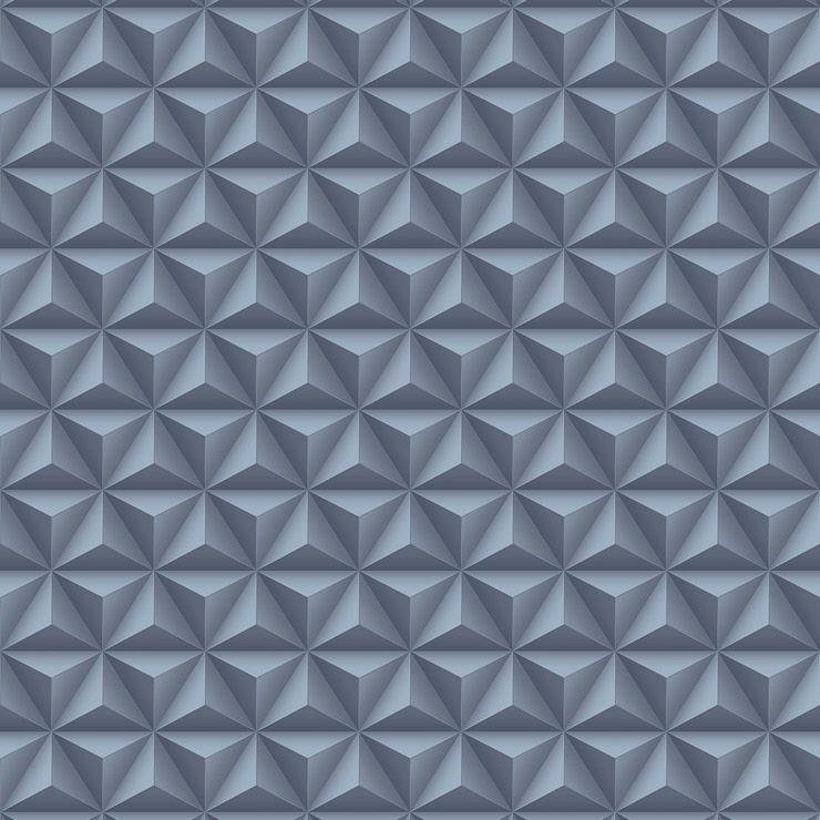 Papel de parede Coleção Diplomata geométrico 3D azul marinho
