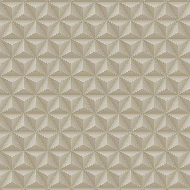 Papel de parede Coleção Diplomata geométrico 3D bege