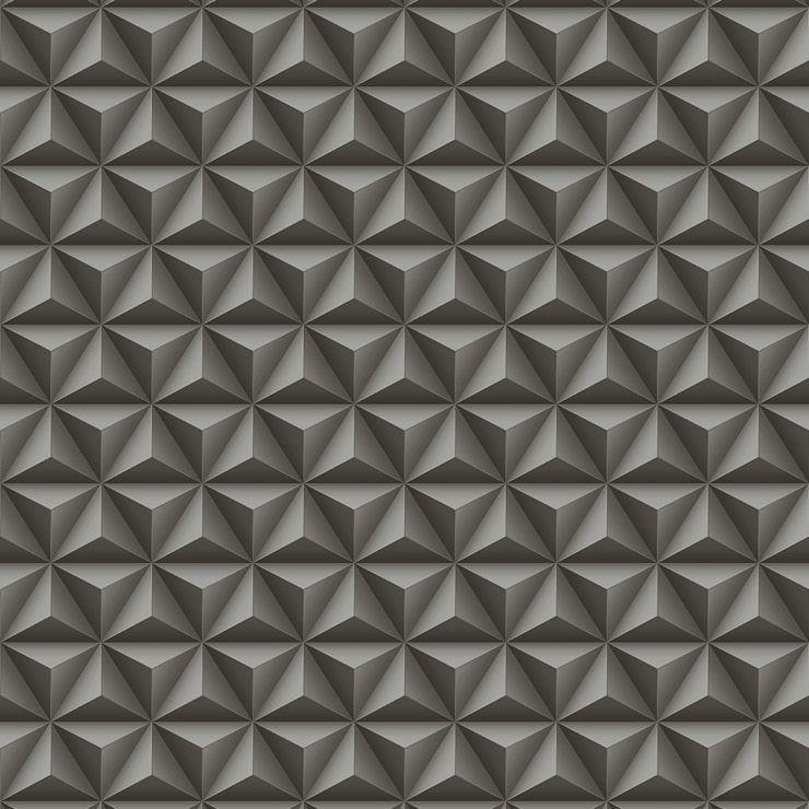 Papel de parede Coleção Diplomata geométrico 3D preto