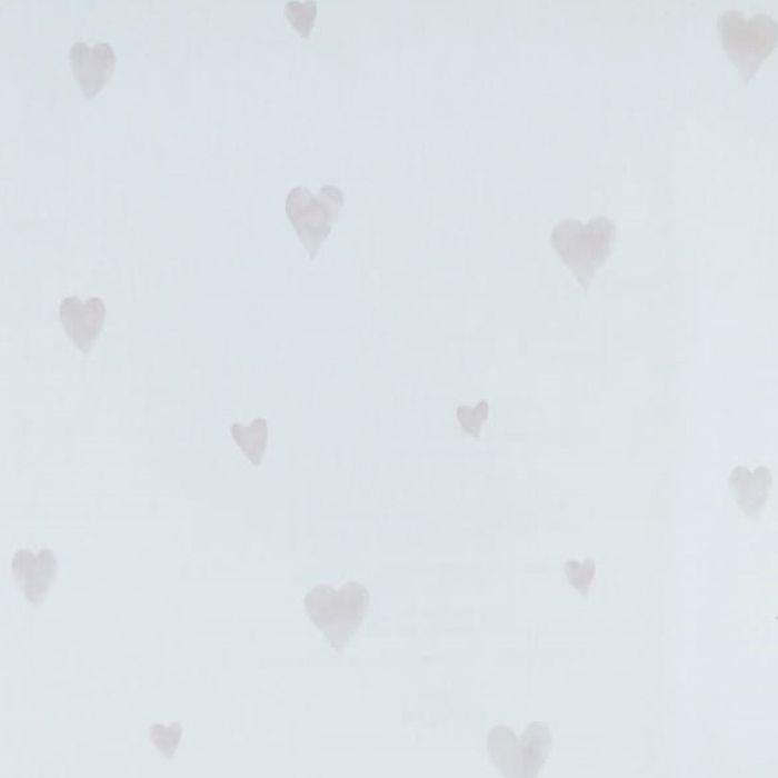 Papel de parede  Infantil Coleção Olá Baby 2 Corações Marfim, Cinza