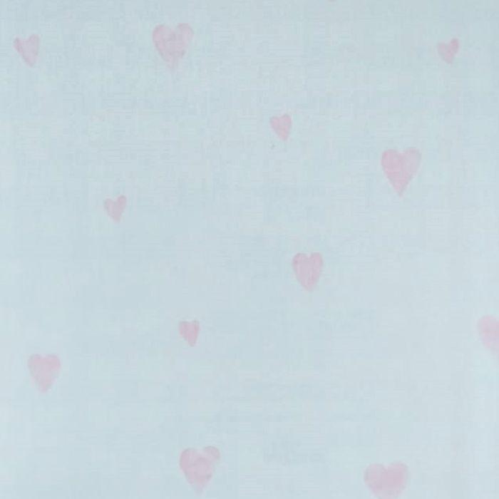 Papel de parede  Infantil Coleção Olá Baby 2 Corações Marfim, Rosa