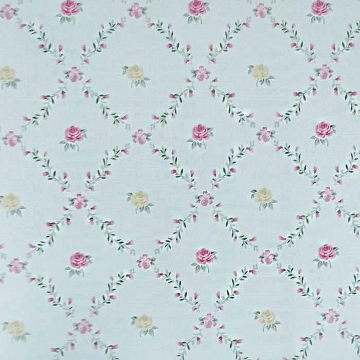 Papel de parede  Infantil Coleção Olá Baby 2 Floral Creme, Rosa, Amarelo, Vermelho, Verde