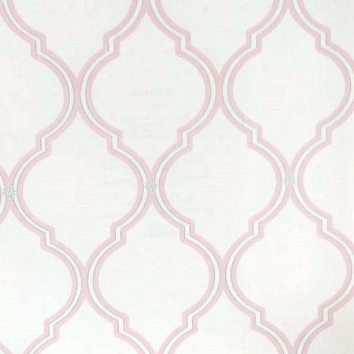 Papel de parede  Infantil Coleção Olá Baby 2 Geométrico Creme, Rosa, Prata
