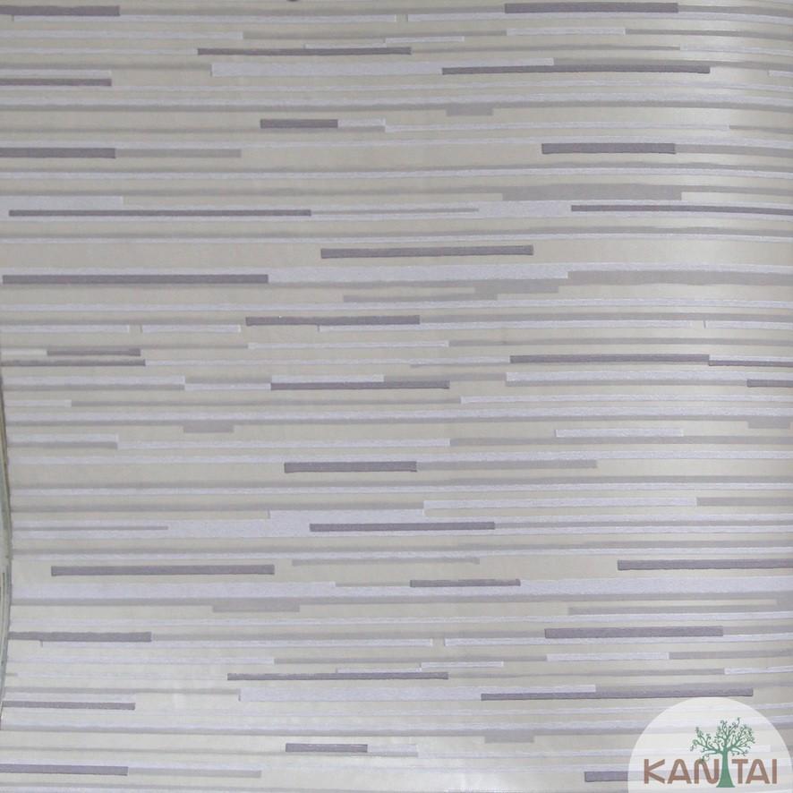 Papel de Parede Kan Tai TNT Coleção Grace 3 Geométrico Abstrato Bege, Branco, Creme