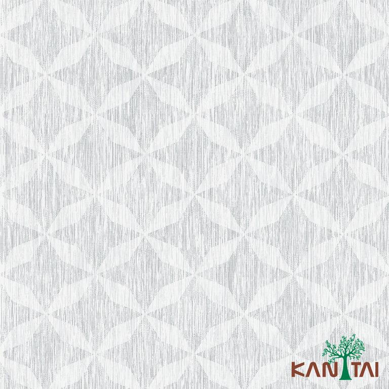 Papel de Parede Kan Tai TNT Coleção Milan Geométrico Cinza, Creme