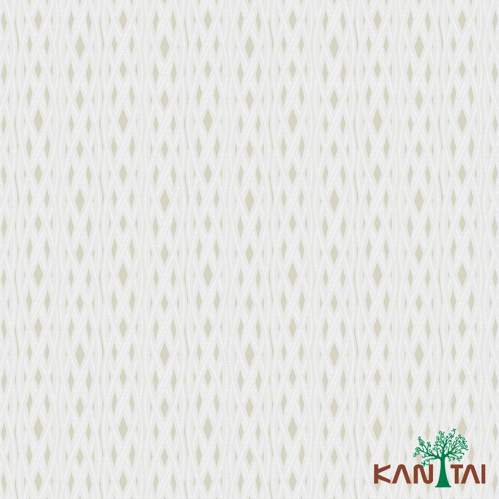 Papel de Parede Kan Tai TNT Coleção Milan Geométrico Dourado, Creme