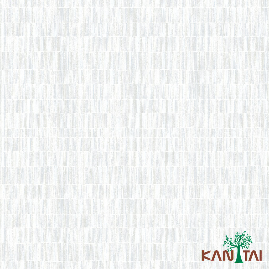 Papel de Parede Kan Tai TNT Coleção Milan Textura abstrato Creme, Prata