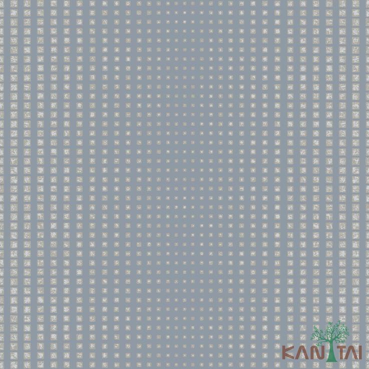 Papel de Parede Kan Tai TNT Coleção Vision Geométrico Cinza, Bege