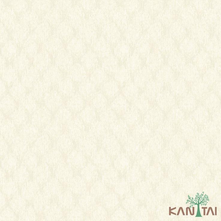 Papel de Parede Kan Tai TNT Coleção Vision Geométrico Creme, Dourado