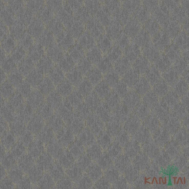 Papel de Parede Kan Tai TNT Coleção Vision Geometrico Grafite, Dourado, Brilho