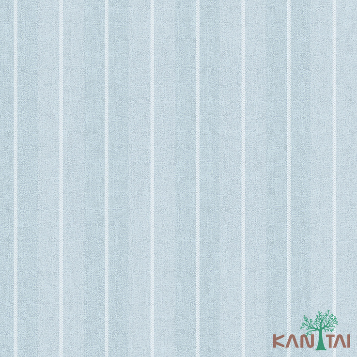 Papel de Parede Kan Tai TNT Coleção Vision Listrado Cinza, Branco