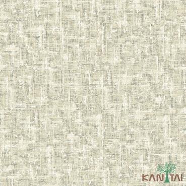 Papel de Parede Kan Tai TNT Coleção Vision Textura abstrato Bege, Verde, Estonado Detalhes